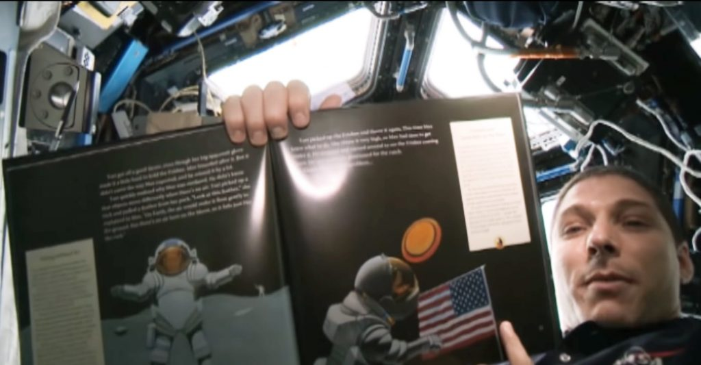 "Astronaut Mike Hopkins reads ""Max Goes to the Moon"" from the International Space Station"